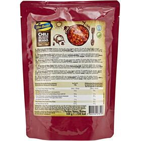 Bla Band Outdoor Meal Outdoor Nutrition Chili sin Carne with Kidney Beans 430g